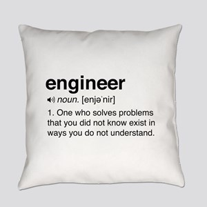 Funny Engineer Definition Everyday Pillow